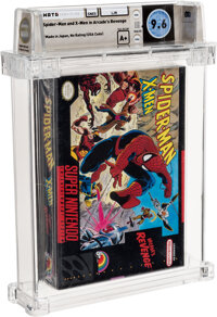 Spider-Man and X-Men in Arcade's Revenge - Wata 9.6 A+ Sealed [Made in Japan], SNES LJN 1992 USA