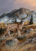 Paintings, Trevor Swanson (American, b. 1968). Mule Deer. Oil on canvas. 24 x 18 inches (61.0 x 45.7 cm). Signed lower right: Tre...