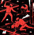 Paintings, Cleon Peterson (b. 1973). Night Has Come, 2014. Acrylic on wood board. 16 x 16 inches (40.6 x 40.6 cm). Signed and dated...