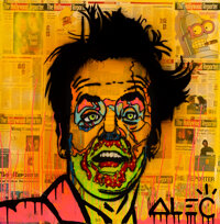Alec Monopoly (b. 1986) Jack Nicholson, early 21st century Acrylic, collage, and varnish on canvas