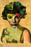 Paintings, DAIN (20th century). Joan Collins, 2008. Screenprint, acrylic, and stencil on wood board. 48 x 32 inches (121.9 x 81.3 c...