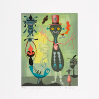 Gary Baseman X Mark Ryden X Tim Biskup Hello (set of 6), 2002 Archival pigment prints in color on wo