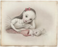 Works on Paper, Mark Ryden (b. 1963). The Cloven Bunny, 2003. Pencil and watercolor on paper. 8 x 9-1/2 inches (20.3 x 24.1 cm) (sheet)...
