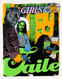 FAILE (b. 1975) 10 Ways to Make Him Notice You, 2003 Monoprint in colors on wove paper 41-1/2 x 33 inches (105.4 x 83