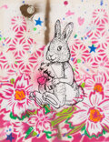 Works on Paper, Aiko (b. 1975). Bunny, early 21st century. Screenprint, acrylic, stencil, and spray paint on paper. 12-1/2 x 9-1/2 inche...
