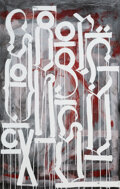 Prints & Multiples, RETNA (b. 1979). Sangre Oscura, 2011. Screenprint in colors on Coventry Rag Vellum paper. 53-1/2 x 34-3/4 inches (135.9 ...