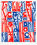 Prints & Multiples, RETNA (b. 1979). Sacred Dance of Memories, 2017. Lithograph in colors on Rives BFK paper. 32-1/4 x 26-3/4 inches (81.9 x...
