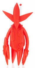 Collectible, Futura (b. 1955). FL-001 Red Pointman, 2019. Cast vinyl. 12 x 5 x 3-1/2 inches (30.5 x 12.7 x 8.9 cm). Stamped to revers...