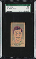 Baseball Cards:Singles (Pre-1930), 1926 W512 Babe Ruth #6 SGC 88 NM/MT 8 - Only One Higher. ...
