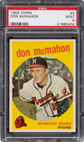 Baseball Cards:Singles (1950-1959), 1959 Topps Don McMahon #3 PSA Mint 9 - Only One Higher.