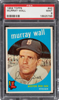 Baseball Cards:Singles (1950-1959), 1959 Topps Murray Wall #42 PSA Mint 9 - Only One Higher.