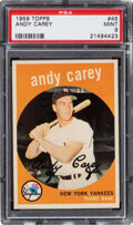 Baseball Cards:Singles (1950-1959), 1959 Topps Andy Carey #45 PSA Mint 9 - None Higher!
