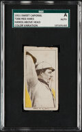 Baseball Cards:Singles (Pre-1930), Unique 1909-11 T206 Sweet Caporal 350-460 Red Ames (Hands Over Head) SGC Authentic - Missing Colors Printing Oddity.....