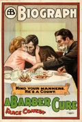 Movie Posters:Comedy, A Barber Cure (Biograph Studios, 1913). Folded, Fine+....