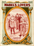 """Movie Posters:Comedy, Mabel's Lovers (Keystone, 1912). Flat Folded, Fine/Very Fine. British One Sheet (30"""" X 40"""").. ..."""