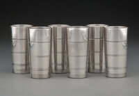 Lurelle Van Arsdale Guild (American, 1898-1985) Six Cups, circa 1929, Wilcox Silver Plate Co., a division of Internatio...
