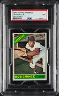 Baseball Cards:Unopened Packs/Display Boxes, 1966 Topps Baseball (7th Series) Cello Pack PSA NM 7 - Scarce High-Number Pack. ...
