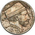 Hobo Nickels, 1929-S Host Nickel Carved by Bert, Formerly Known as The Traveler....