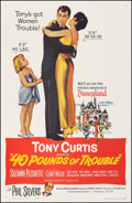 """Movie Posters:Comedy, 40 Pounds of Trouble (Universal, 1963). Very Fine+ on Linen. One Sheet (27"""" X 41.25""""). Comedy.. ..."""
