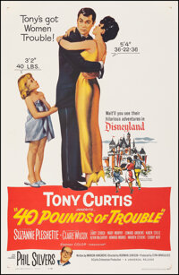 """40 Pounds of Trouble (Universal, 1963). Very Fine+ on Linen. One Sheet (27"""" X 41.25""""). Comedy"""