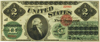 Fr. 41 $2 1862 Legal Tender PMG About Uncirculated 55