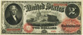 Large Size:Legal Tender Notes, Fr. 47 $2 1875 Legal Tender PMG Choice About Unc 58.. ...