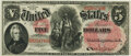 Large Size:Legal Tender Notes, Fr. 65 $5 1875 Legal Tender PMG Choice Uncirculated 63 EPQ.. ...