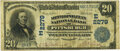 National Bank Notes:Pennsylvania, Pittsburgh, PA - $20 1902 Date Back Fr. 649a The Metropolitan National Bank Ch. # (E)2279 PMG Very Fine 20.. ...
