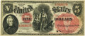 Large Size:Legal Tender Notes, Fr. 66 $5 1875 Legal Tender PMG About Uncirculated 55.. ...
