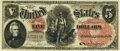 Large Size:Legal Tender Notes, Fr. 66 $5 1875 Legal Tender PMG Extremely Fine 40.. ...