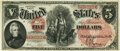 Large Size:Legal Tender Notes, Fr. 68 $5 1875 Legal Tender PMG Choice Uncirculated 64.. ...