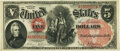 Large Size:Legal Tender Notes, Fr. 69 $5 1878 Legal Tender PMG Choice Uncirculated 63 EPQ.. ...