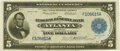 Fr. 788 $5 1915 Federal Reserve Bank Note PMG About Uncirculated 50