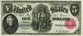 Large Size:Legal Tender Notes, Fr. 79 $5 1880 Legal Tender PMG Choice About Unc 58 EPQ.. ...
