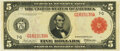 Fr. 838b $5 1914 Red Seal Federal Reserve Note PMG Choice Uncirculated 63