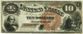 Large Size:Legal Tender Notes, Fr. 100 $10 1880 Legal Tender PMG Choice Uncirculated 63.. ...
