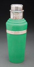 Other, Wilson & Gill (British, est. 1892). Green Master Incolor Cocktail Shaker, circa 1930. Chrome-plated metal, Bakelite . 11...