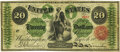 Large Size:Legal Tender Notes, Fr. 124b $20 1862 Legal Tender PMG Very Fine 25.. ...