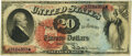 Large Size:Legal Tender Notes, Fr. 127 $20 1869 Legal Tender PMG Very Fine 30.. ...