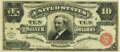 Large Size:Silver Certificates, Fr. 291 $10 1886 Silver Certificate PMG Very Fine 25.. ...