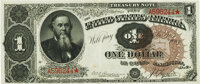 Fr. 347 $1 1890 Treasury Note PMG About Uncirculated 50