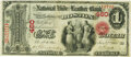 National Bank Notes:Massachusetts, Boston, MA - $1 Original Fr. 380b The National Hide & Leather Bank Ch. # 460 PMG Very Fine 25.. ...
