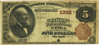 Utica, NY - $5 1882 Brown Back Fr. 469 The First National Bank Ch. # 1395 PMG Choice Fine 15