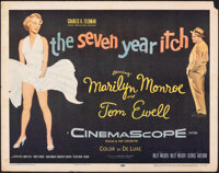 """The Seven Year Itch (20th Century Fox, 1955). Rolled, Fine+. Half Sheet (22"""" X 28""""). Comedy"""