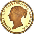 """Great Britain: Victoria gold Proof """"Una and the Lion"""" 5 Pounds 1839 PR66★ Ultra Cameo NGC"""