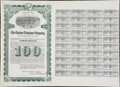 Stocks and Bonds, Miscellaneous - Stock and Bond Certificates - Trio of Large Bond and Share Certificates. All Fine or Better.. ... (Total: 3 items)