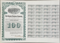 Miscellaneous - Stock and Bond Certificates – Trio of Large Bond and Share Certificates. All Fine or Better