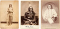 Photography:Cabinet Photos, Indian Wars: Group of Cabinet Cards Including Sitting Bull....