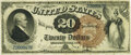 Large Size:Legal Tender Notes, Fr. 130 $20 1880 Legal Tender PMG Very Fine 30.. ...