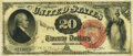 Large Size:Legal Tender Notes, Fr. 133 $20 1880 Legal Tender PMG Very Fine 30.. ...